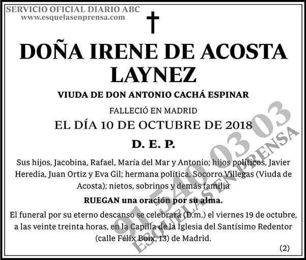 Irene de Acosta Laynez